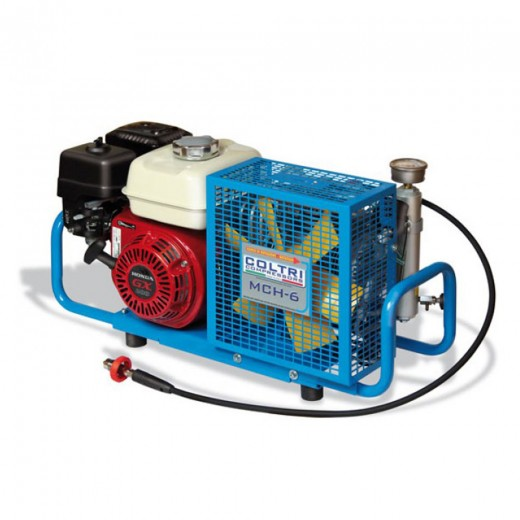 NUV-8013 MCH-6 Portable High Pressure Air Compressor - Gas 5.5 HP Honda - 4500 PSI Maximum Pressure