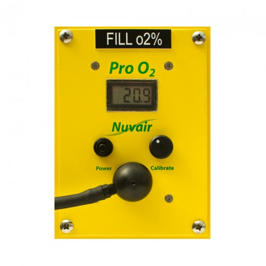 Pro Oxygen (O2) Analyzer - Panel Mount - Battery Powered