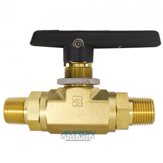 8M-B8LJ-BP B-Series Ball Valve - 1/2 inch MNPT - Brass