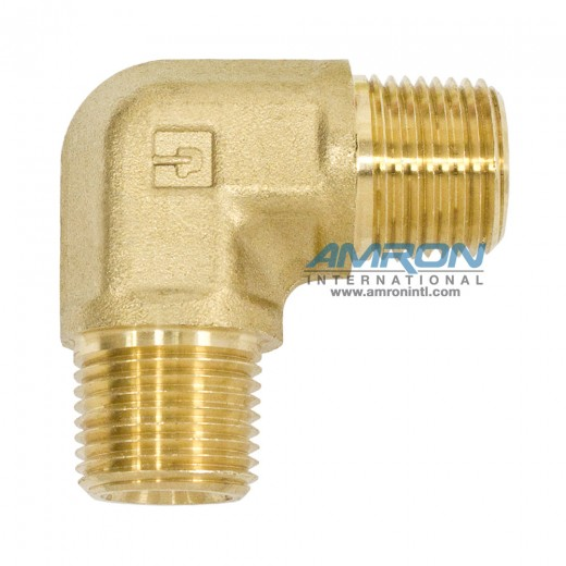CR-B-3/8 Male Pipe Elbow 3/8 inch NPT - Brass