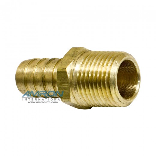 125HBL-10-8 Hose Barb to MNPT Male Pipe 5/8 inch - Brass