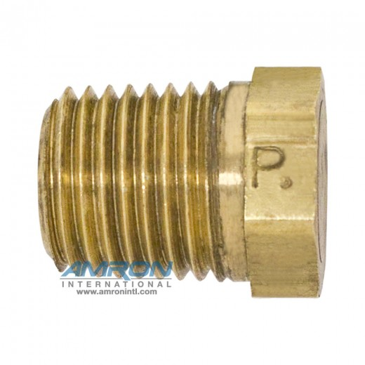 HP-B-3/8 HP Hex Head Plug 3/8 inch NPT - Brass