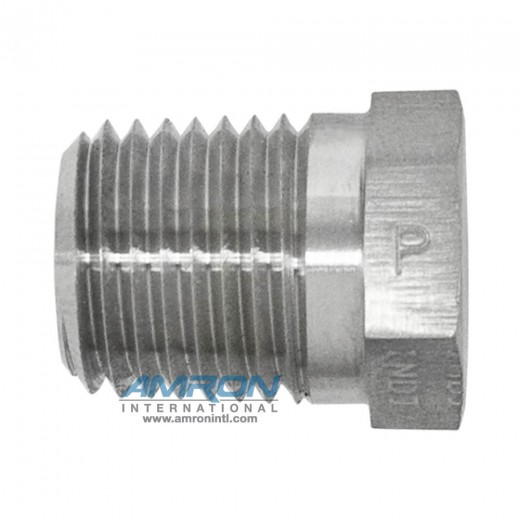 HP-SS-1/2 HP Hex Head Plug 1/2 inch NPT - Stainless Steel