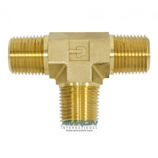 RRS-B-1/2 Male Pipe Tee 1/2 inch NPT - Brass