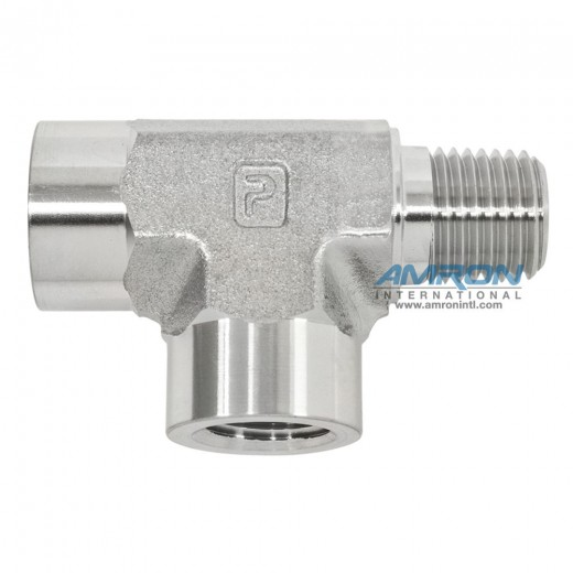 MRO-SS-1/4 Street Tee (Male on Run) 1/4 inch NPT - Stainless Steel