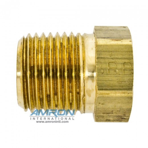 PTR Pipe Thread Reducer 1/2 x 1/4 inch NPT - Brass