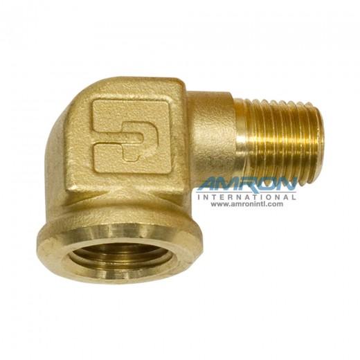 1202P-6-4 Street Elbow 3/8 inch FNPT x 1/4 inch MNPT - Brass