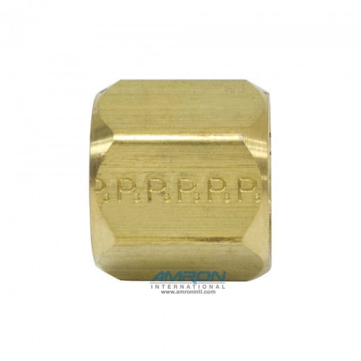 BTX Nut 37° Flare 1/2 in. JIC with 3/4-16 UN/UNF-2B Thread - Brass