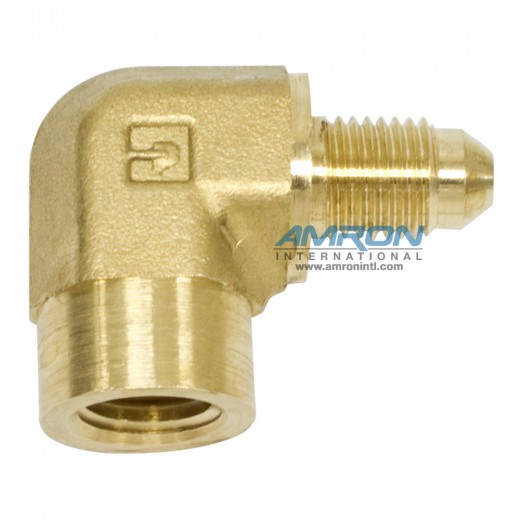 DTX Female Elbow - 1/4 in. JIC and 1/4-18 in. NPT Brass