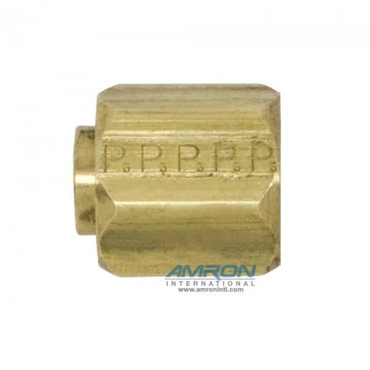 FNTX-B-6 Cap 37° Flare 3/8 inch JIC - Brass