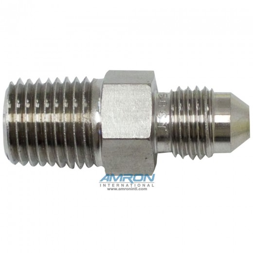FTX Male Connector 1/4 in. JIC and 1/4-18 in. NPT - Stainless Steel