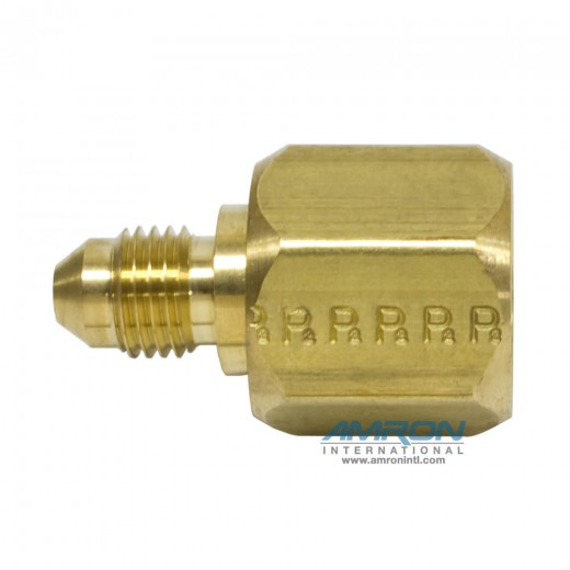 TRTXN-B-8-4 Tube End Reducer 1/2 in. JIC and 1/4 in. JIC - Brass