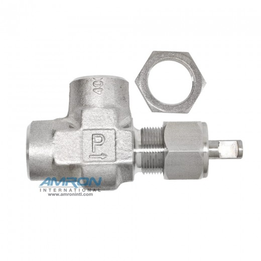 4F-V6AK-V-SS-KRY-LH Needle Valve Angle 1/4 inch FNPT - Stainless Steel