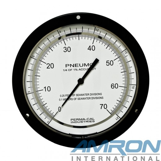 8.5-Inch Pneumo Depth Gauge 0.25% Accuracy 70 FSW / 21 MSW