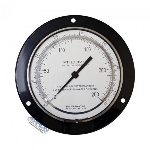 6-Inch Pneumo Depth Gauge 0.25% Accuracy 250 FSW / 76 MSW