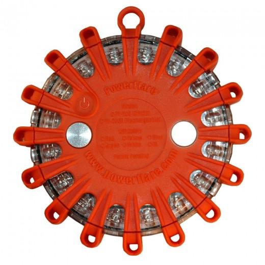 Non-Rechargeable Electronic LED Safety Light - Amber LED / Orange Shell