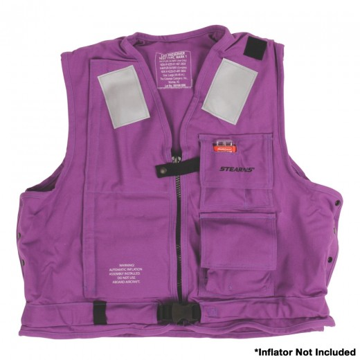 U.S. Navy MK1 Inflatable Vest Shell Only - Purple