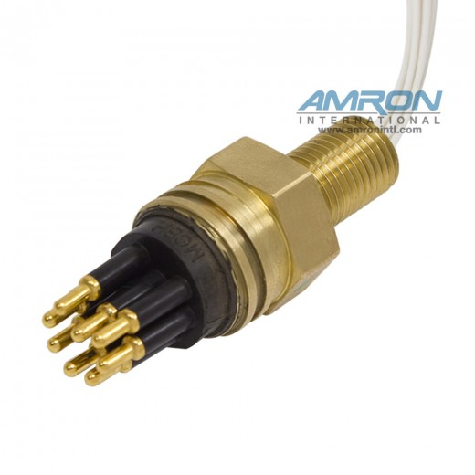 MCBH8M Micro Wet-Con Male Bulkhead Connector with 8 Pins