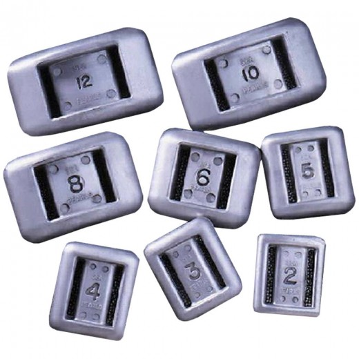 Uncoated Solid Diving Weights