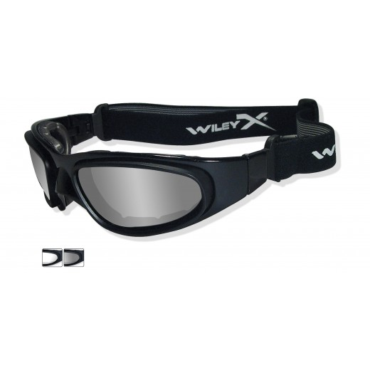 SG-1 Sunglasses/Goggles - Regular Black Frame - Smoke and Clear Lenses