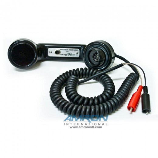 SPT-550RC Sound Powered Phone with Alligator Clips
