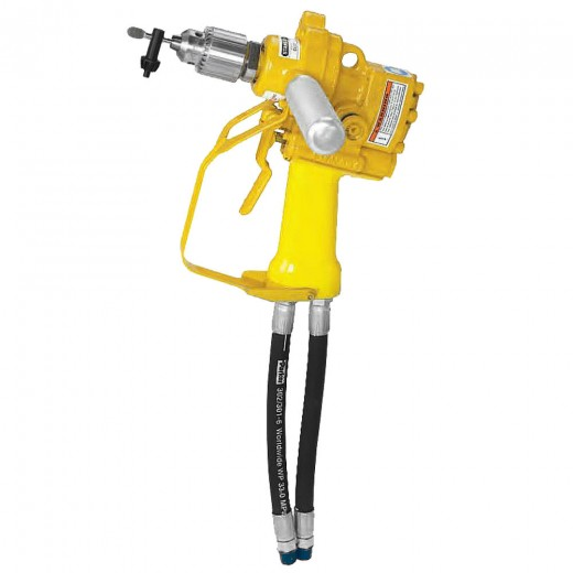 DL07 Hydraulic Underwater Pistol Drill - 1/2 Inch Square Drive (Includes Assist Handle & Hose Whips; Excludes Couplers)
