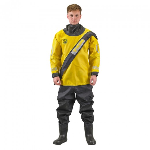 WRS Water Rescue Suit with Quick Neck Set Neck Ring System and Latex Socks