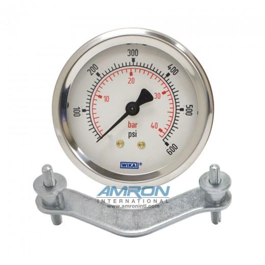 Model 212.53 Bourdon Tube Dry Case Pressure Gauge 2.5 in. 0-600 PSI 1/4 in. NPT - Center Back Mount - No Flange