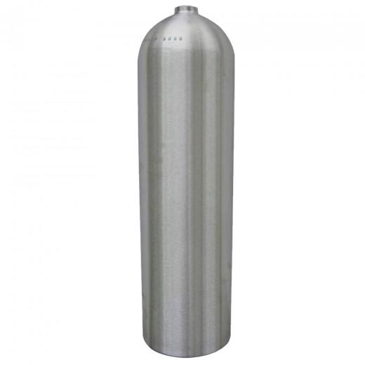 AL80 Aluminum SCUBA Cylinder with No Valve - Brushed No Coat