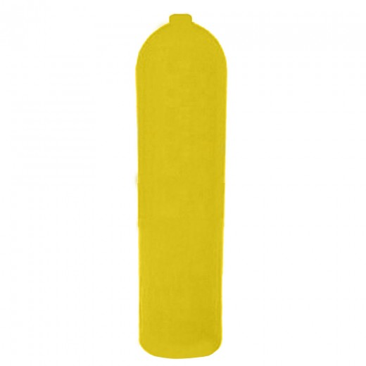 AL80 Aluminum SCUBA Cylinder with No Valve - Yellow