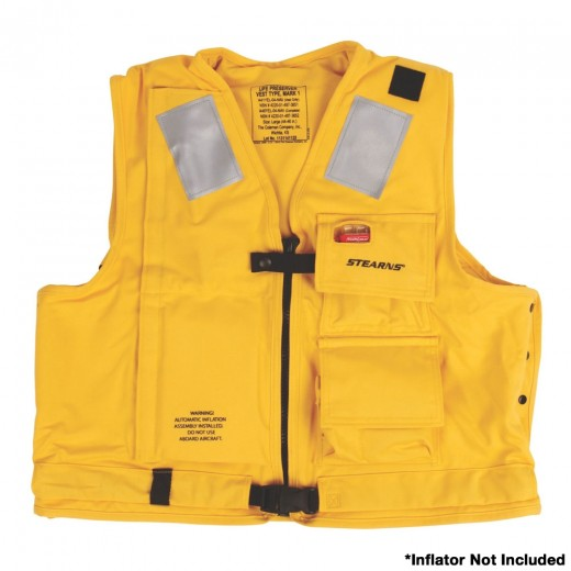 U.S. Navy MK1 Inflatable Vest Shell  Only - Yellow