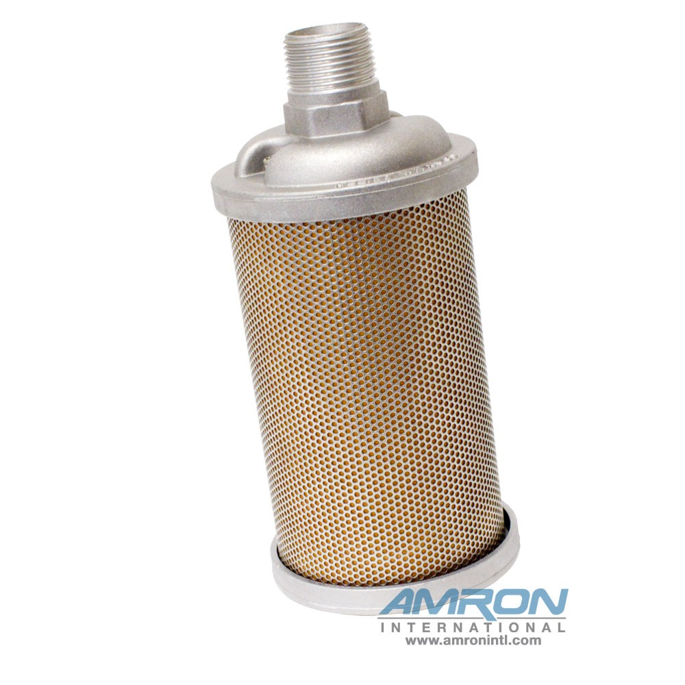 Allied Witan EP Type Muffler - M10 1 in. NPT, Stainless Steel