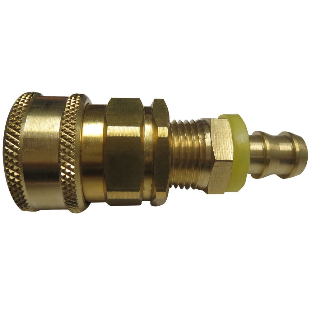 1/2 in. Hose Barb with Installed Quick Disconnect for Hot Water Suit BPHC-8-8F-30-207ASSY