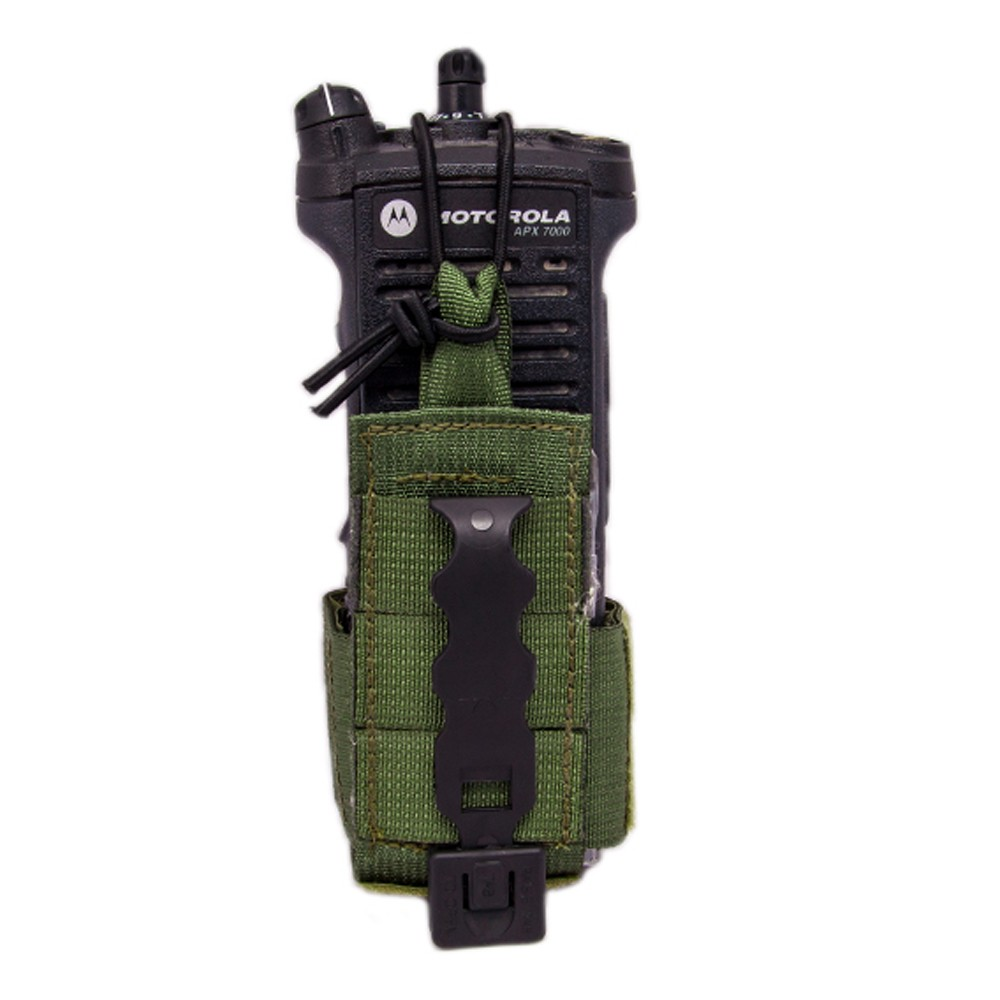 Tactical Tailor Radio Pouch Small Olive Drab - Back View