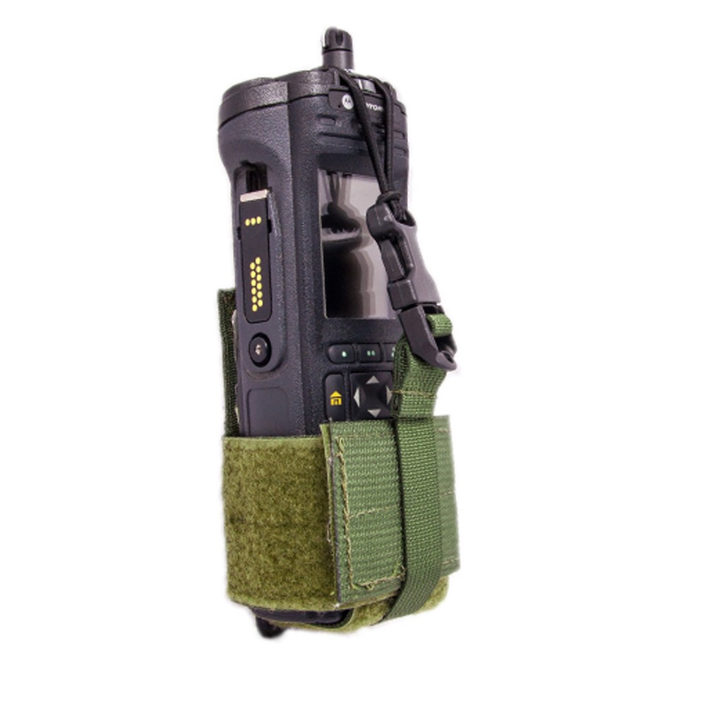 Tactical Tailor Radio Pouch Small Olive Drab - Side View