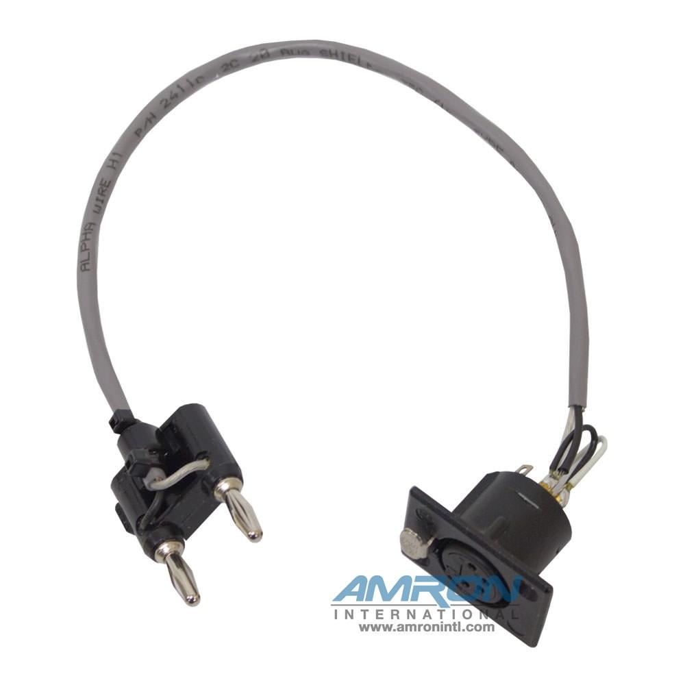 Amron International Headset 4-Pin Neutrik X Black Banana Plug 2400-08