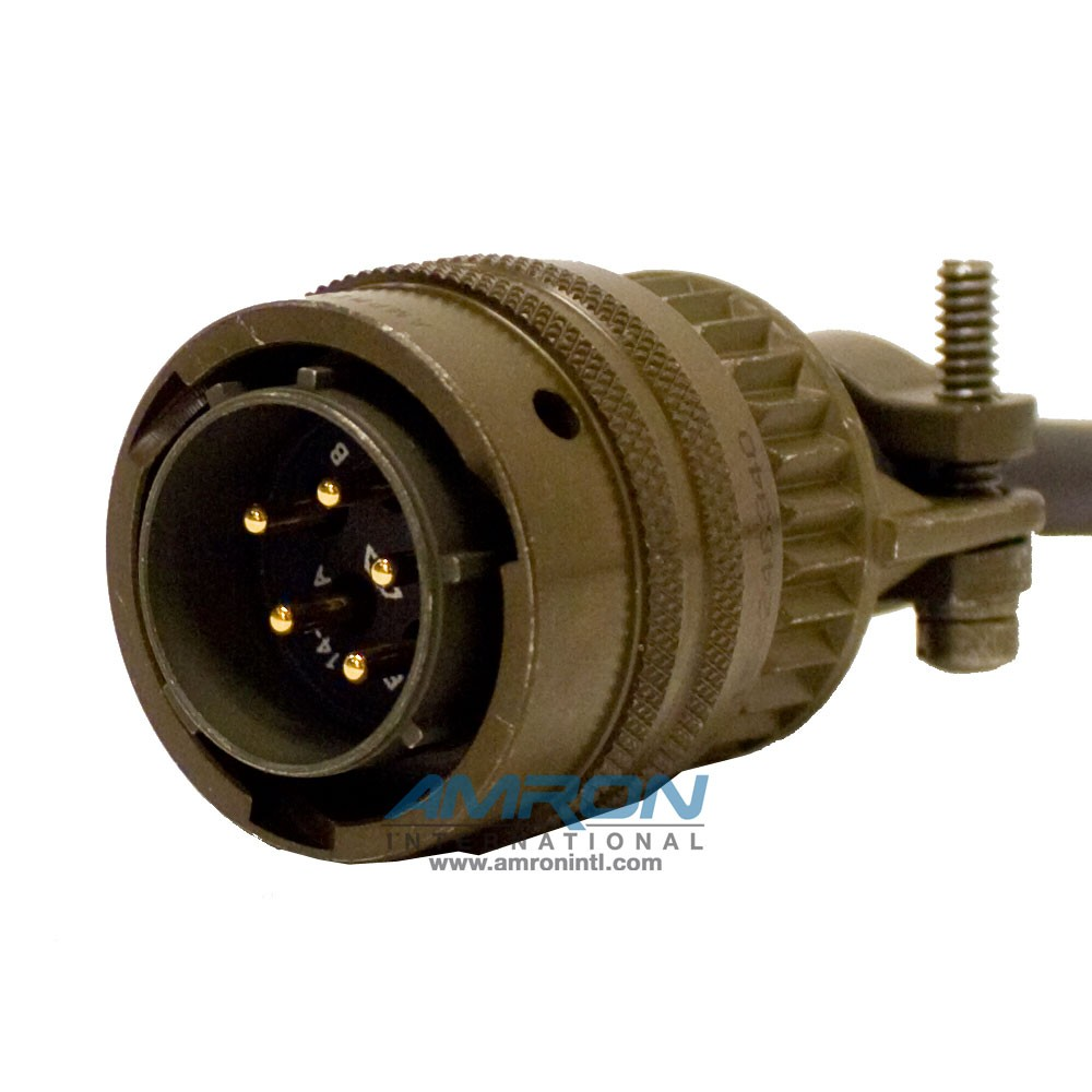 Amron International 22400-12 MS Military Connector Male 5-Pin to Banana Plugs Communication Adapter