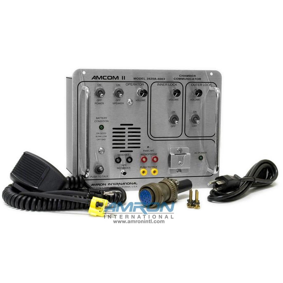 mron International Amcom II 2820A-4003 Double Lock Chamber Communicator
