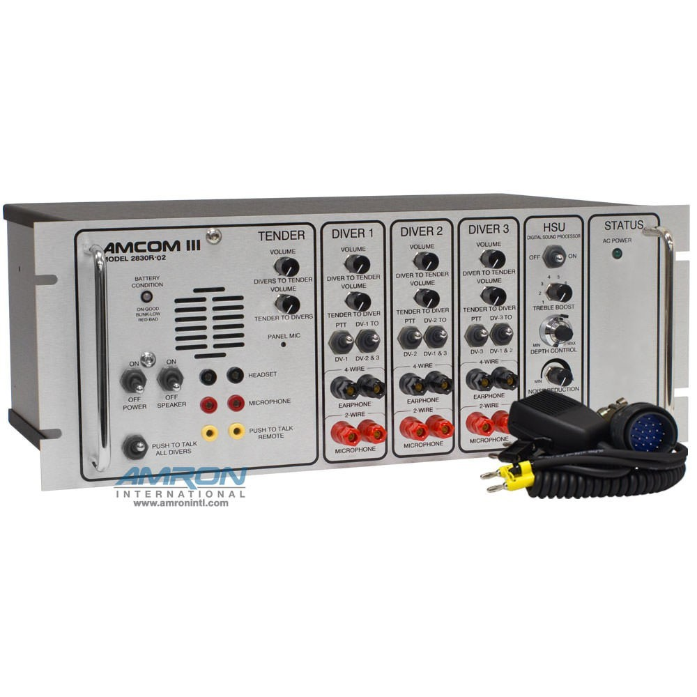 AMCOM III 2830R-02 Three-Diver Rack Mount Communicator with DSP3 ...