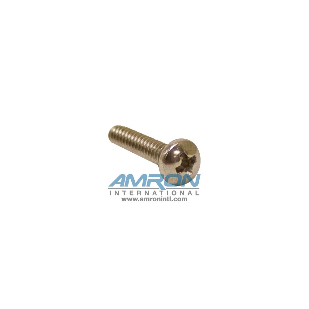 Amron Replacement Screw Pan Head, Phillips Drive, #4-40 UNC, 1/2 Inch Length - 4-40X1/2SSPHP