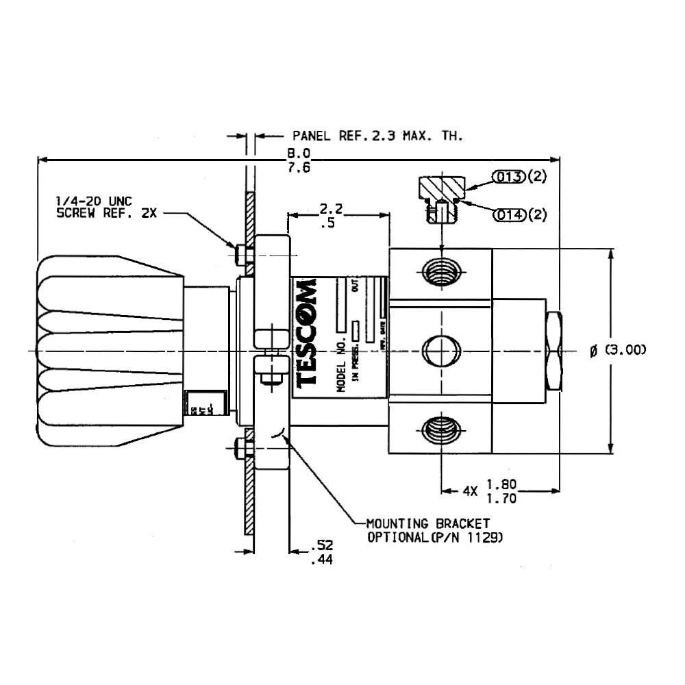 Tescom High Flow Pressure Reducing Regulator 0 300 Psig
