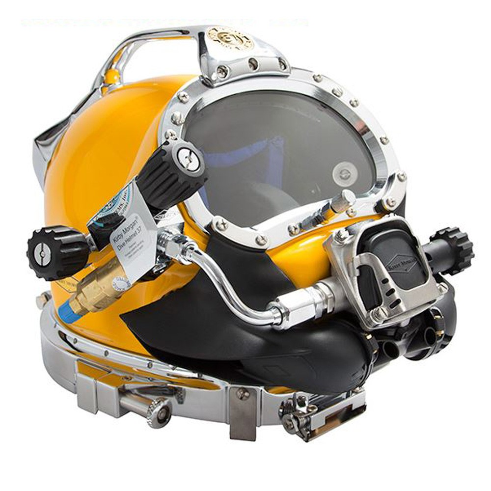 Kirby Morgan 37 Commercial Diving Helmet with Male Waterproof Connectors and 455 Regulator 500-051-455
