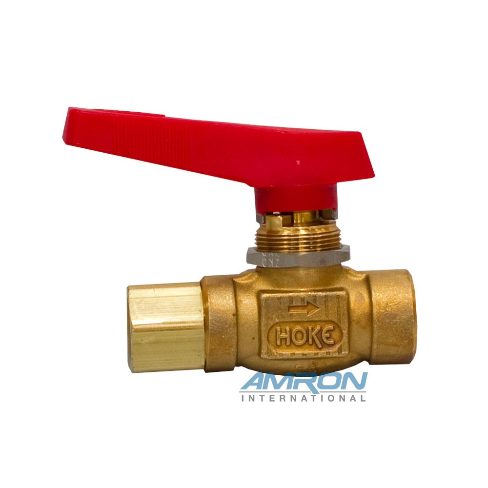 Hoke 7115F4B Flomite 71 Series Panel Mount Ball Valve Front 7115F4B