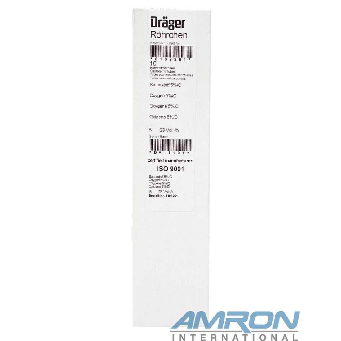 Drager 8103261 Oxygen 5%/C Range Detector Tube