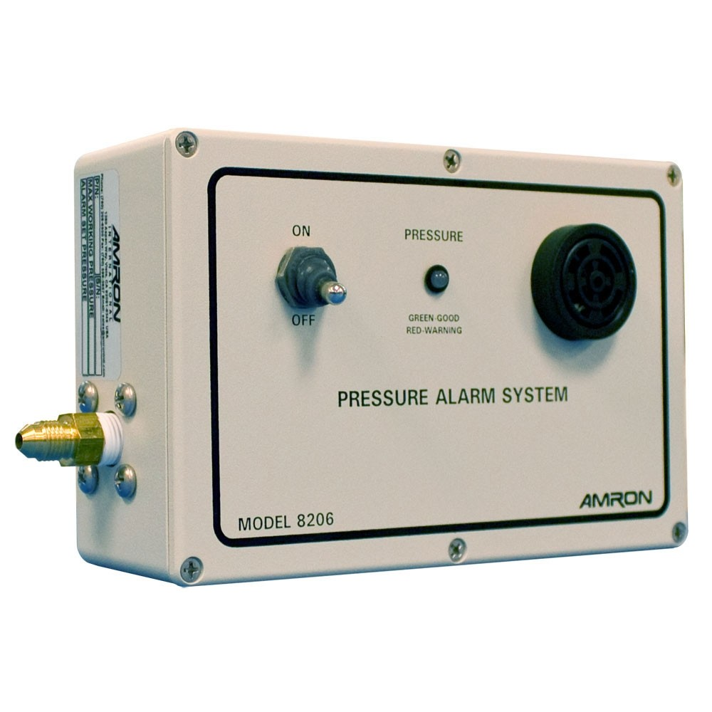 Amron Low Air Pressure Alarm System - Trip Point 22.5 to 112 PSI 8206-D