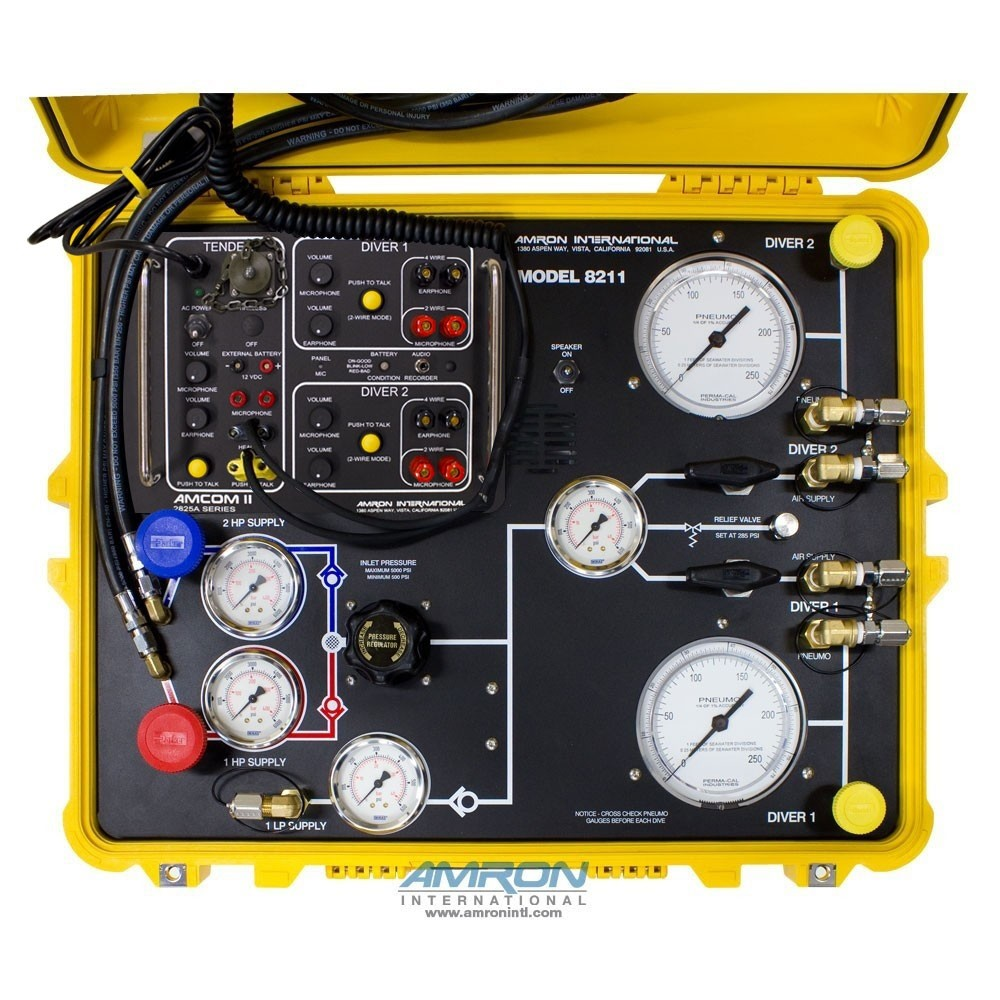 Amron 8211-01 Compact Two-Diver Surface Command Unit (SCU) Air Control  System