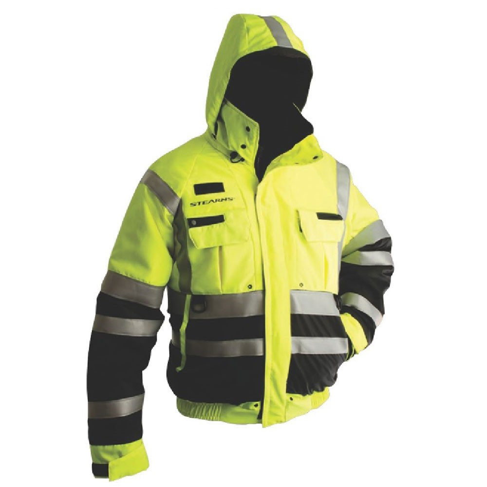 Stearns Powerboat Flotation Jacket Bomber Style - Green