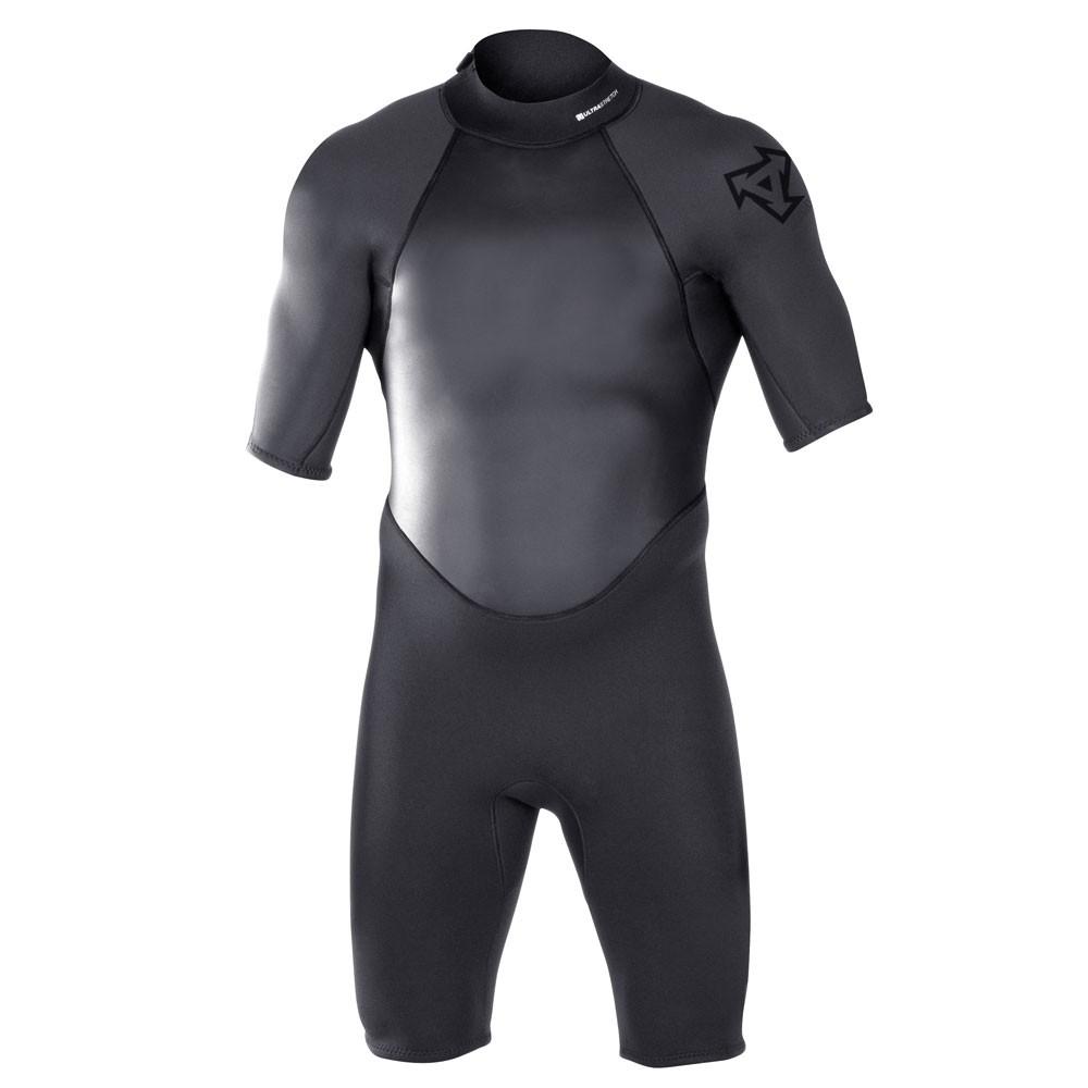 XCEL Military Diver 2mm Basic Flatlock Seam Short Sleeve Springsuit - Black