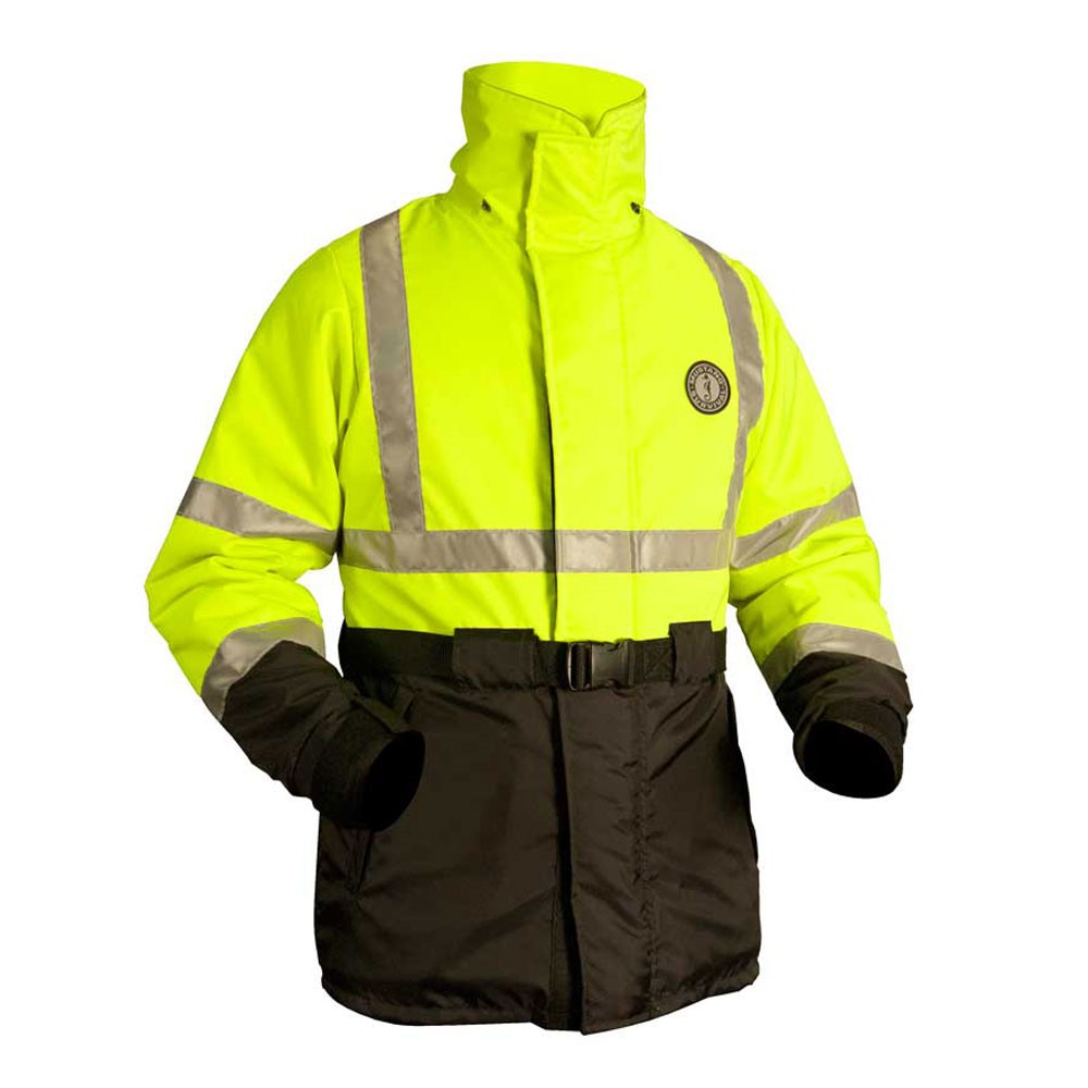 Mustang Survival ANSI High Visibility Flotation Coat - Fluorescent Yellow-Green/Black