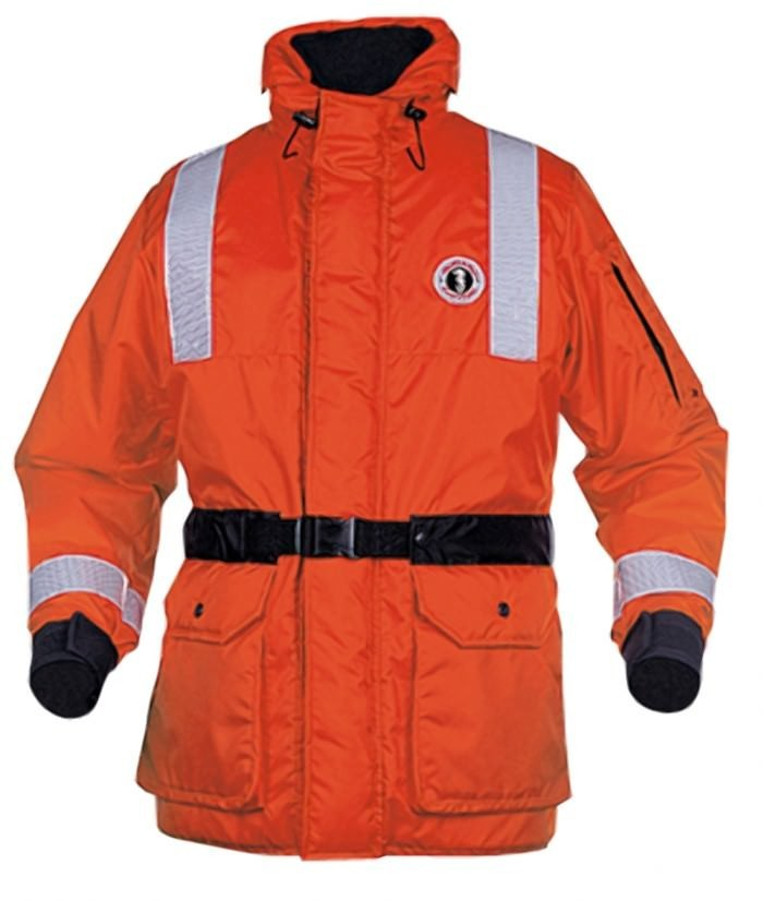 Mustang Survival ThermoSystem Plus Coat with Beaver Tail - Orange